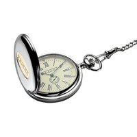 Dalvey full hunter stainless steel mechanical pocket watch
