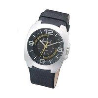 Diesel Men's Black Leather Strap Watch