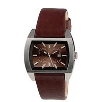 Diesel Men's Brown Leather Strap Watch