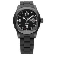 Burberry men's black bracelet watch