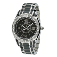 Juicy Couture Lively ladies' stone set black bracelet watch