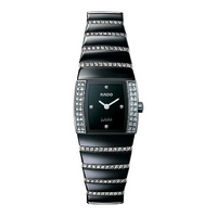 Rado Sintra Jubilee ladies' black diamond-set bracelet watch