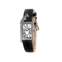 Juicy Couture Royal ladies' black leather strap watch