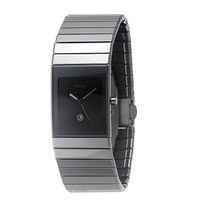 Rado Ceramica men's rectangular dial bracelet watch