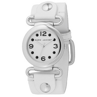 Marc by Marc Jacobs ladies' round white strap watch