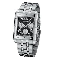Raymond Weil men's chrome bracelet watch