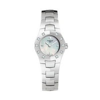 Tissot T-Round ladies' stainless steel diamond watch