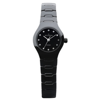 Skagen 816XSBXC1 Women's Ceramic Links Round Watch, Black