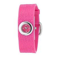 Marc by Marc ladies' pink rubber strap watch