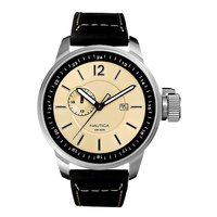 Nautica men's stainless steel GMT strap watch