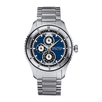 Nautica NCS men's blue dial stainless steel bracelet watch
