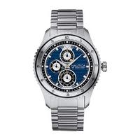Nautica NCS men's blue dial stainless steel bracelet watch
