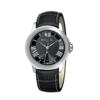 Raymond Weil Tradition men's black leather strap watch