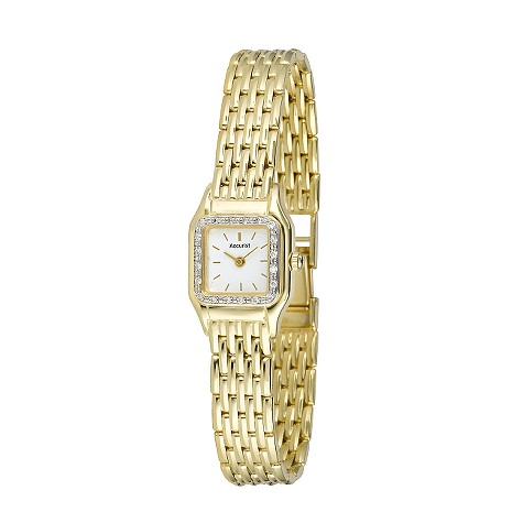 Accurist ladies' 9ct gold diamond watch