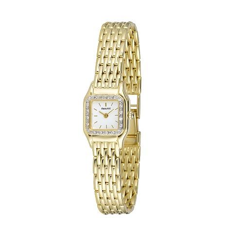 Accurist ladies' 9ct gold diamond watch