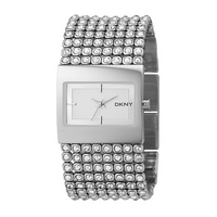 DKNY ladies' stone set cuff watch