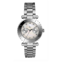 Gc ladies' mother of pearl diamond-set watch - 34mm dial