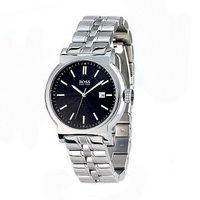 Hugo Boss men's stainless steel black dial bracelet watch