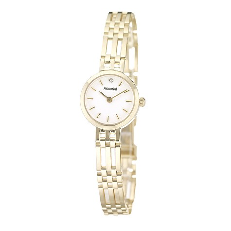 Accurist ladies' 9ct gold bracelet watch