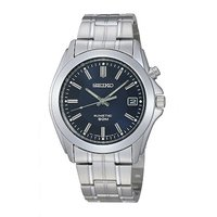 Seiko Kinetic men's stainless steel bracelet watch