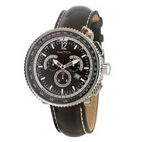 Nautica GTS Titanium Ocean 50 black strap watch
