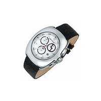 Farfus - White Dial & Stingray Band Chronograph Watch