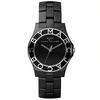 Marc by Marc Jacobs ladies' black ceramic bracelet watch