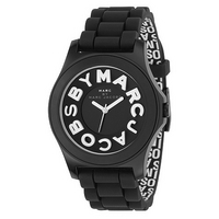 Marc by Marc ladies' black strap big logo watch
