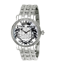 Juicy Couture ladies' stainless steel bracelet watch.