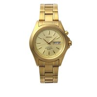 Seiko Kinetic men's gold-plated bracelet watch