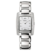 Ebel ladies' rectangular mother of pearl dial bracelet watch